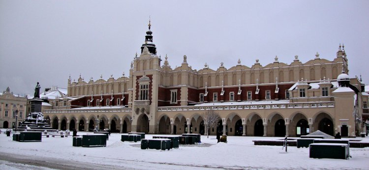 Cracow in winter